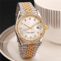 ingrosso orologio quadrato di lusso svizzero-Orologi da donna di lusso di nuova marca Orologi quadrati con diamanti e diamanti Orologi da donna con strass dorati Orologi svizzeri da polso automatici