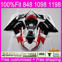 Wholesale 1198s fairing for sale - Group buy Injection For DUCATI R R White Black HM S S S Fairing