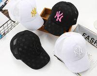 sombrero hiphop niña al por mayor-Bebé Gorra de béisbol Niños Niñas Snapback Gorra Niños Hiphop NY Sombreros Niños Bat Imprimir Summer Sun Hat