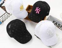 cap boy ny toptan satış-Bebek Beyzbol Şapkası Erkek Kız Snapback Kap Çocuklar Hiphop NY Şapkalar Çocuk Yarasa Baskı Yaz Güneş Şapka