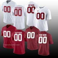 camisola de elite masculina venda por atacado-Homens NCAA JERSEY Alabama Crimson Maré Vapor Intocável Elite Custom American College Futebol jerseys branco vermelho preto