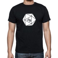 Wholesale dungeons dragons dice online - 20 Dice Roll Play Gamer Geek Dungeons and Dragons Novelty T shirt Board Games New High Quality Top Tee Print