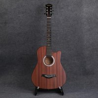 Wholesale oem acoustic guitars for sale - Group buy Factory Can be OEM inch Sapele acoustic guitar novice beginner acoustic guitar practice piano
