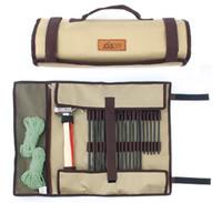 unhas de tenda venda por atacado-Barraca de Unhas Hammer Hand Bag Acampamento Ao Ar Livre de Alta Capacidade Kit de Ferramentas Simples Tuba Durável Acampamento Forte Prego Envoltório Venda Quente 21 gtI1