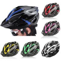 capacetes de bicicleta de marca venda por atacado-2019 Nova marca de bicicleta Capacetes Matte Black Homens Mulheres bicicleta Helmet Mountain Road bicicleta moldado integralmente Ciclismo Capacetes 6 cores