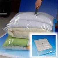 Wholesale bedding free shipping for sale - Group buy Home Storage Bags Space Saving Vacuum Seal Bags Compressed Organizer Bag Transparent Saving Space Foldable storage bags Free ship