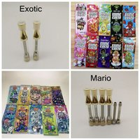 Wholesale Mario Cart Exotic Carts with Newest Vape Cartridge Packaging ml Empty Gold Vape Pen Cartridges Atomizer