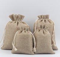 ingrosso mini sacchetti di lino-50pcs quattro dimensioni mini sacchetto di raccolta borsa gioielli in cotone e lino borsa bicchier d'acqua, pacchetto di carta pergamena buddista tasca coulisse vassoio