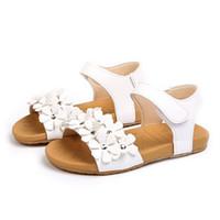 junge mädchen strand großhandel-Baby Sommer Schuhe Mädchen Sandalen Junge Kinderkleidung Blumen Strand Sandalen Mädchen Größe 21-30 Baby Weichbesohlte Schuhe
