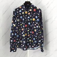 ingrosso camicie maniche lunghe alla galassia-19ss nuovo arrivo famoso marchio di moda camicie di marca top manica lunga lusso abbigliamento per uomo galaxy retrò vintage camicie