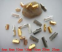 ingrosso tappi terminali per gioielli in pelle-500pcs Risultati dei monili Accessori in pelle clip pieghevole Collana Connettori Bracciali End Caps Crimp Beads Catenaccio creazione di gioielli