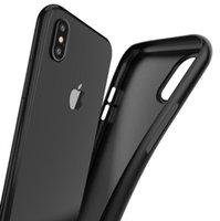 ультра тонкий корпус для iphone оптовых-Для iPhone Xs Max Xr Xs X 8 плюс 8 7 плюс 7 6S плюс 6S 6 Ультратонкий матовый чехол Soft