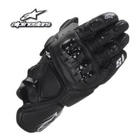 новые мотоциклы для оптовых-A  Motorcycle Gloves Short paragraph Real Leather racing Motorcycle Protective Gears Motocross Gloves Moto Waterproof