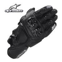 xl deri şort toptan satış-Yeni MOTO GP yarış eldivenleri deri motosiklet motosiklet eldiven off-road motosiklet sürme eldiven S1 Kısa paragraf