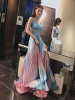 ingrosso vestito lungo del tubo del collo-Nuovi prodotti delle donne 2019 Estate Celebrity Party Strap Tube Top con scollo a V Leaky Back Puff MAXI Long Fashion Elegant Dr Dress + suit