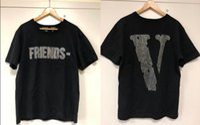 t de strass venda por atacado-Algodão amigos T-shirt Homens Mulheres Rhinestone Logo camisa de Harajuku camisetas Hip hop Punk Streetwear Marca Verão Tee