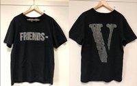 männer s t-shirt logo großhandel-Freunde T-Shirt Männer Frauen Strass-Logo T-Shirt Harajuku T-Shirt Hip-Hop-Punk Street Marken-Sommer-Cotton-Kleidung T