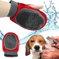 ingrosso spazzole per cani di gomma-Pet Brush Glove Cat Hair Brush Grooming Fur Rubber Removal Mittens Cucciolo di cane Lavaggio Cheaning Bath Brush Pettine Dog Massage Shower DHL