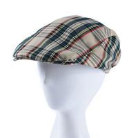 ingrosso berretto berretti-Berretto scozzese britannico a berretto retrò Cappello estivo a berretto casual in cotone nuovo berretto da studente unisex
