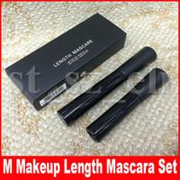 kits de pestañas al por mayor-Kit de maquillaje M Eye Kits 3D Fiber Lashes + Mascara Waterproof Black Lenght Lash Extensiones de pestañas largas Kit cosmético