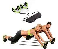equipamentos para a saúde venda por atacado-Tensão Dobrável Revoflex Xtreme Rally multifuncional puxar corda com rodas saúde abdominal treinamento do músculo equipamento de fitness em casa