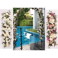 düğün dekorasyon aksesuarları toptan satış-GÜL KRALIÇE 100 cm Yapay İpek Gül Çiçek Sıra DIY Düğün Yol Rehberi Kemer Dekorasyon Yapay Çiçek Açılış Stüdyo Sahne