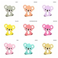 Wholesale hot toddler toys for sale - Hot sale toddler koala teethers price food silicate paint animal koala teether baby soothers toys