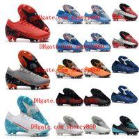 ronaldo açık hava futbol ayakkabıları toptan satış-2019 erkek futbol açık Mercurial Buharı 13 Elite FG cr7 futbol botları Ronaldo Superfly 7 Elite SE Neymar FG futbol ayakkabıları pervazları