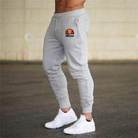 jogger sweatpants herren großhandel-Herren Jogger Freizeithosen Fitness Sportswear Trainingsanzug Hosen Skinny Sweatpants Hosen Black Gym Jogger Bodybuilding Track Pants