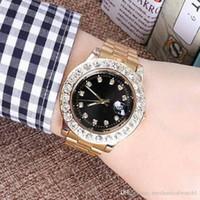 ingrosso bracciale watche-Diamond Watche Relogio Masculino Mens Orologi Luxury Dress Designer Fashion Black Dial Calendario Bracciale in oro Chiusura pieghevole Master Maschio