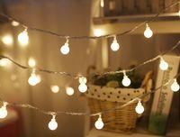 luzes conduzidas indoor da árvore venda por atacado-Novo 3 M 6 M Fada Guirlanda LED Bola Luzes Da Corda À Prova D 'Água Para A Decoração da Casa de Natal Decoração de Casa Para Casa Indoor Alimentado Por Bateria LLFA