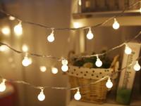 topları çelenk açtı toptan satış-Yeni 3 M 6 M Peri Garland LED Topu Dize Işıklar Noel Ağacı Düğün Için Su Geçirmez Ev Düğün Dekorasyon Akülü LLFA