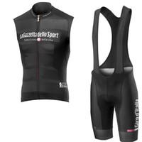 tour italia camisetas de ciclismo al por mayor-2019 Pro Cycling Jersey 3d Gel Pad Bib Shorts Set hombres verano ciclismo Maillot Wear Team Tour de Italia ciclismo ropa Y041506