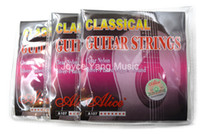 Wholesale guitar copper resale online - 3 Sets Alice A107 N Classical Guitar Strings Clear Nylon Strings Silver Plated Copper Alloy Wound st th Strings