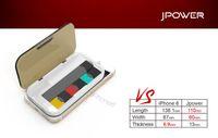 stylo usb achat en gros de-Jpower Power Bank 1200 mah pour Juu Vape Pen kit Portable Charge Titulaire Cas 3 Led Lumière Micro USB Jpwer Box 11x6x1.3cm