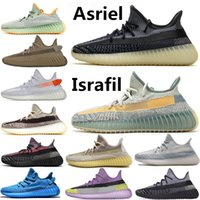 aydınlatılmış koşu ayakkabıları toptan satış-2020 New Stock X Kanye West Desert Sage Earth Cinder Running Shoes Yecheil Yeshaya Zyon Zebra Flax Linen Static Mens Trainers Sport sneakers