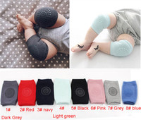 Wholesale leg protector knee resale online - Baby Kids Crawling Elbow Cushion Knee Pads Anti Slip Crawl Knee Protector Infant Leg Warmers Safety Protector Child Cotton Kneepad A42205