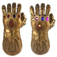 elektronische handschuhe großhandel-BRELONG Infinity War PVC Leuchthandschuhe Electronic Fist Halloween Cosplay Requisiten Multicolor Handschuhe 1 Stk