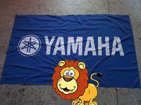 yamaha logo großhandel-Blaue Yamaha-Logoflagge, blaue Yamaha-Autorennvereinflagge, 90 * 150CM polyster Fahne 100% polyste