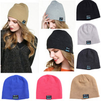 Wholesale headphone caps for sale - Group buy Winter Warm Beanie Hat For Women Men Skull Cable Cap Bluetooth Music Hat Cap With wireless Headphone Xmas Christmas Party Hat HH7