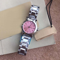 Wholesale gentle dress online - 26MM Dress Quartz Womens Watch Watches Gentle and Quiet Ladies Wristwatches L Silver Stainless Steel Bracelet Pink Dial