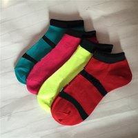 Wholesale cycling for sale - Pink Black Ankle Socks Sports Check Girls Women Cotton Sports Socks Pink Skateboard Sneaker Stockings