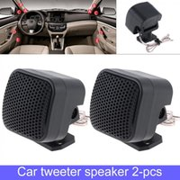 Wholesale music stereo system resale online - 2pcs W Universal High Efficiency Mini Car Tweeter Speakers Auto Horn Audio Music Stereo Speaker for Car Audio System