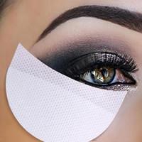 augenaufkleber augenschminke großhandel-Einweg Lidschattenpads Augengel Makeup Shield Pad Schutz Aufkleber Wimpernverlängerung Patch Augen Make Up Tools 100 teile / satz RRA1493