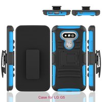 Wholesale Silicone PC Defender Holster Belt Clip Rugged Case for LG G5 G6 G4 G3 G Vista VS880 Stylo LS770 G4 Stylus Cover with Stand