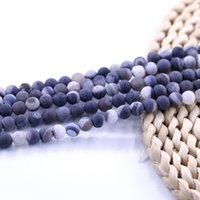 natürlicher edelstein druzy perlen großhandel-Schwarz Druzy Achat Perlen Edelstein Naturstein Perle bieten Probe 15 Zoll Strang pro Satz
