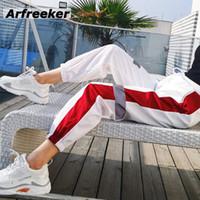 bombas de sexo femenino al por mayor-Arfreeker Elasticity Casual Pumps Jogging High Johnbull Cintura Sweat Pants Sexo femenino o masculino Y19062901