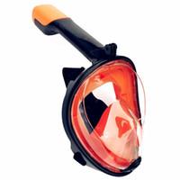 ingrosso maschera antiappannamento nebbia-2019 Nuovo colore Full Face Snorkeling Maschere 180 Visualizza Anti-fog Anti-Leak Snorkel Maschera subacquea Subacquea Maschera