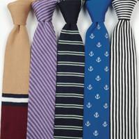 ingrosso lana a maglia britannica-Camicia da uomo casual britannica a maglia stretta cravatta 6cm abito da sposa in lana banda cravatta bianca camicia cravatta regali per uomo uomo accessori