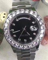ingrosso orologi più grandi-2019 vendita calda di lusso orologio da polso di lusso bracciale in acciaio inossidabile President quadrante bianco diamante più grande lunetta in ceramica orologi meccanici reloj.